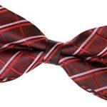 retreez elegante de cuadros escoceses estilo tejido pre tied bow